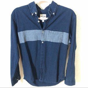 AEO Premium Indigo Classic Fit Denim Shirt Small